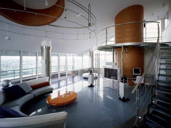 עיצוב בית פרטי בסגנון עתידנות