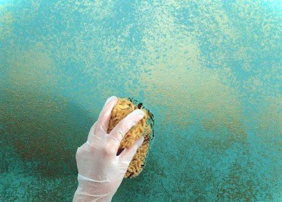 אפקט צבע בעזרת ספוג